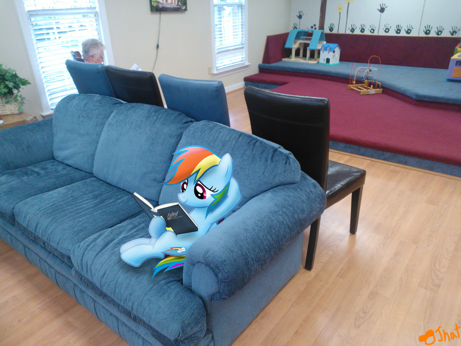Dashie in the waiting room by OJhat