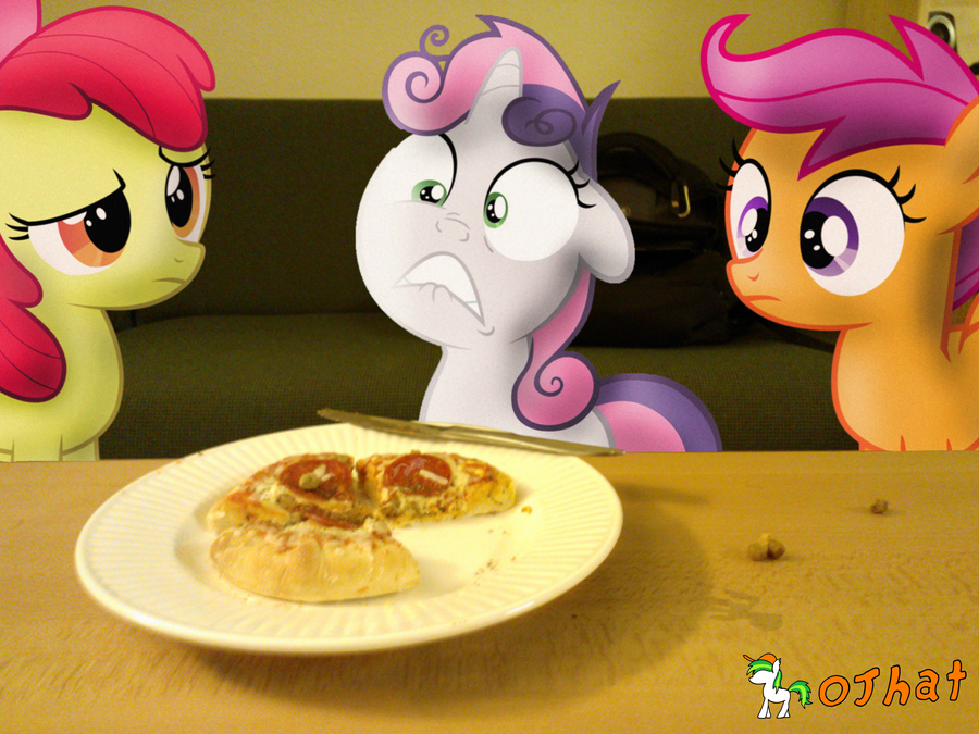 SOMEPONY STOLE A SLICE OF MY PIZZA!!! by OJhat