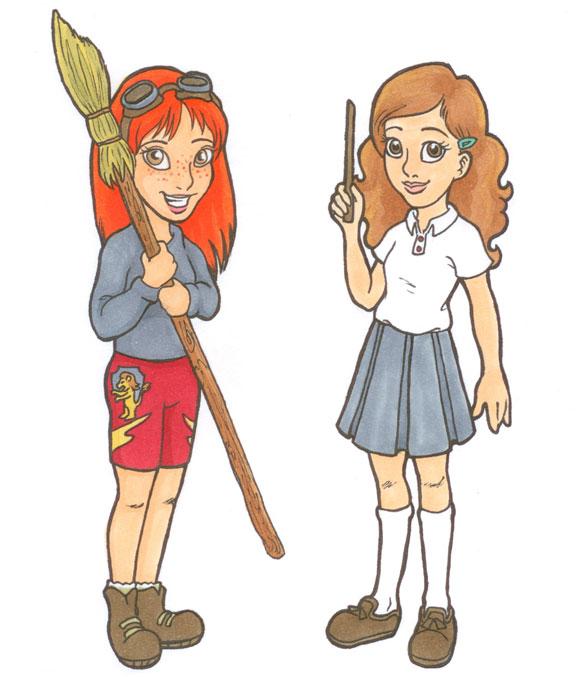 Harry Potter Girls by wolfypuppy
