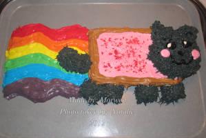 Nyan Cat Cake by YumeSamasLover