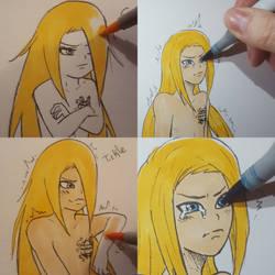 Coloring chibi Deidara by YumeSamasLover