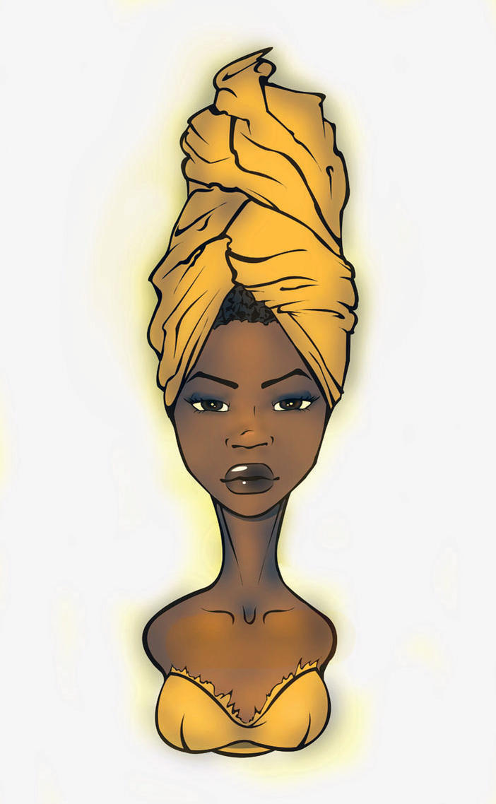 black woman by InThe00Black Women Afro Art