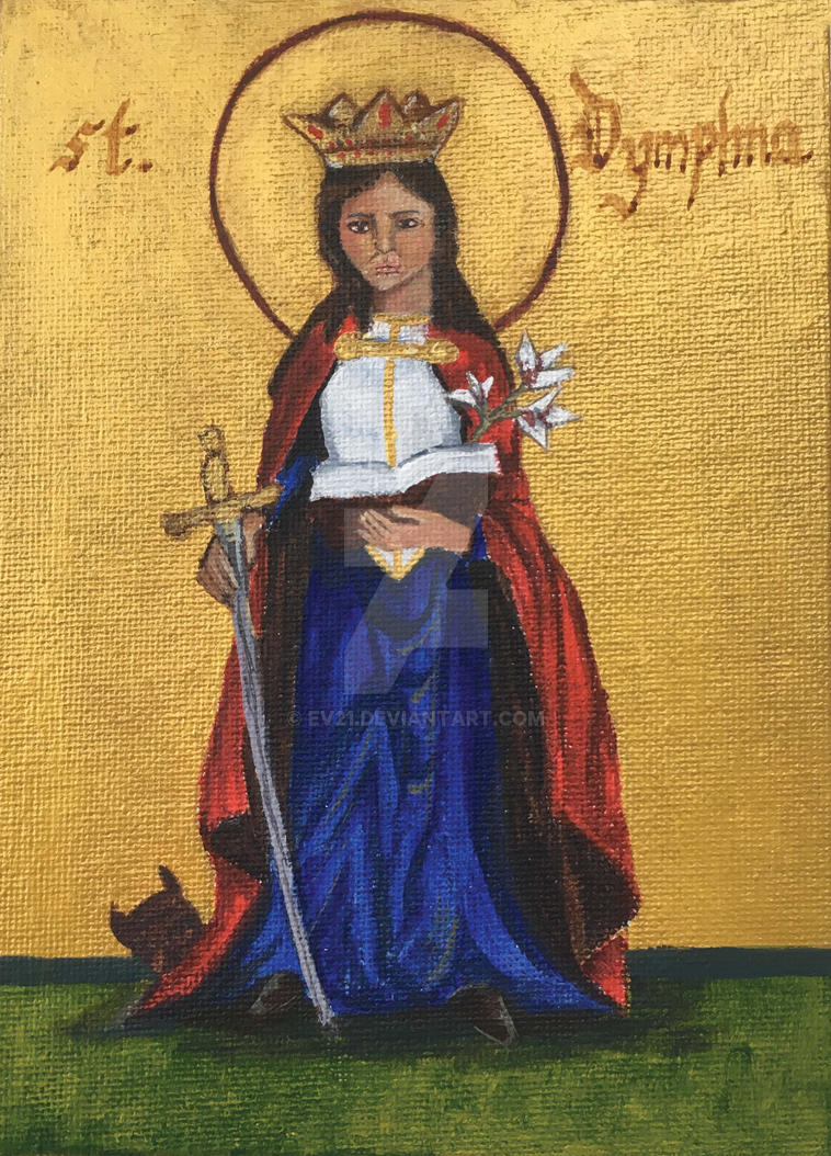 St. Dymphna by ev21