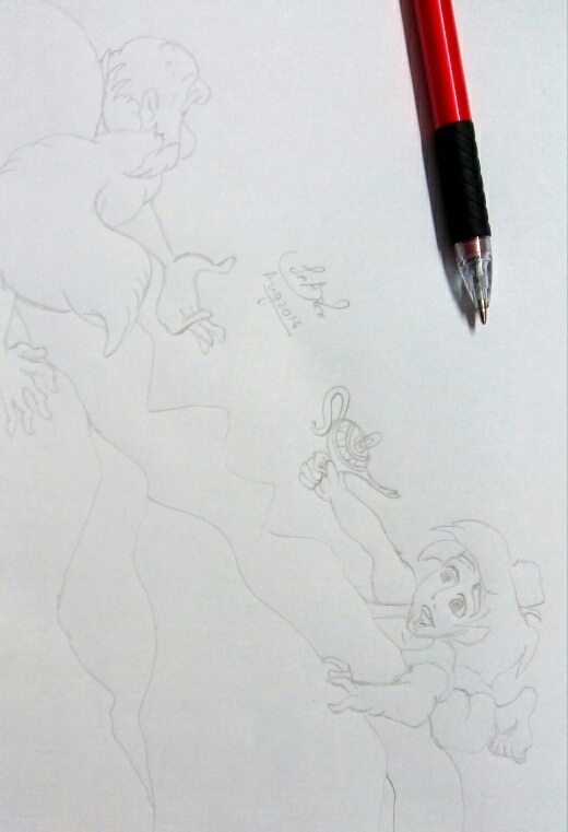 Aladdin Fan Art Pencil Sketch - 06 by LostPrincessDream on ...