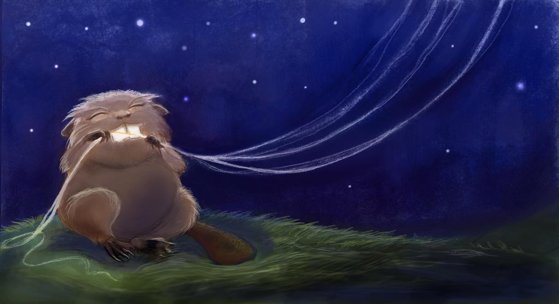 Smart beaver by tooniegirl