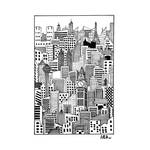 Inktober2020 Day3 Bustling Cityscape by AlysArtistree
