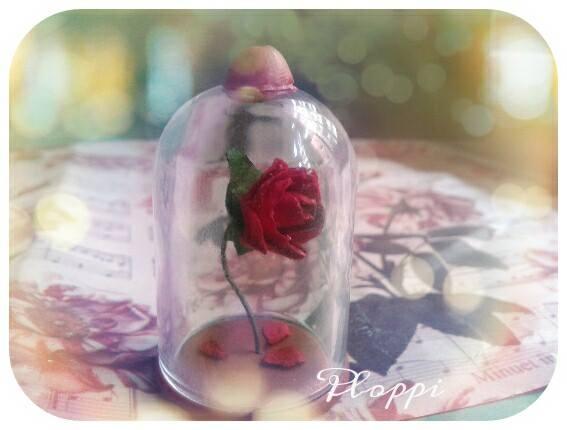 Rosa Beauty and Beast Fimo by MagicoMondoDiPLOPPI