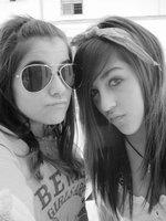 Me with my best friend. by Aelita-Cyber-Fan