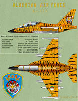 Profile-yak-130 Tiger Algerian air force