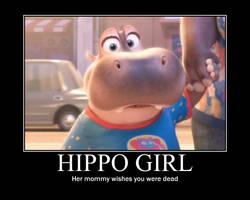 Hippo girl motivational