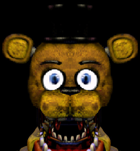 Reconstituted Golden Freddy Jumpscare by GEEKFOREVER3 on