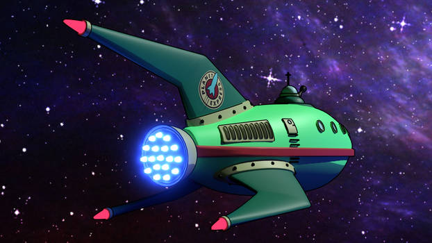 Planet Express with toon shader and freestyle 1