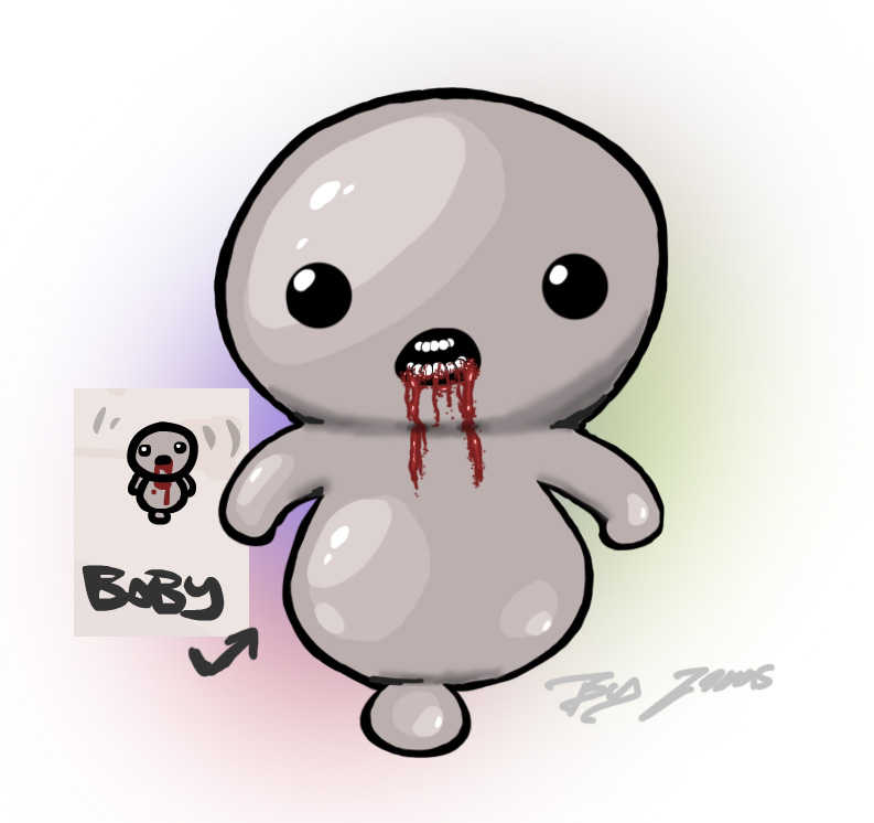 The binding of isaac - baby- fan art by Brainsause