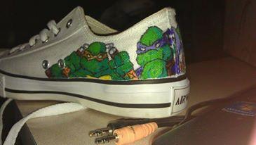tmnt custom shoe2 by melodywinters