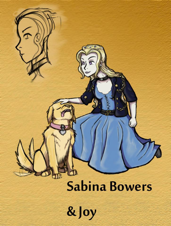 Sabina Bowers and Joy by Eternity9 by dailydragonlair