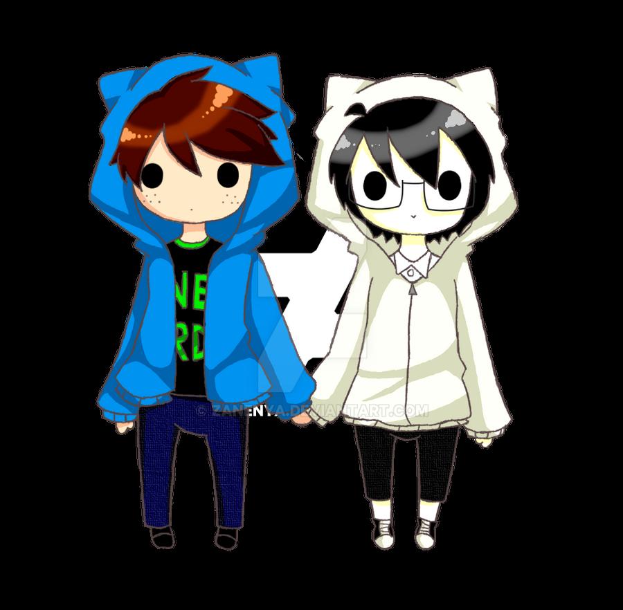 Cute Nerd Couple By ZaneNya