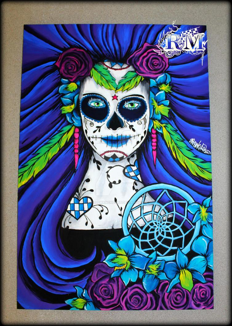 Day Of The Dead Goddess By RechelleMancheART