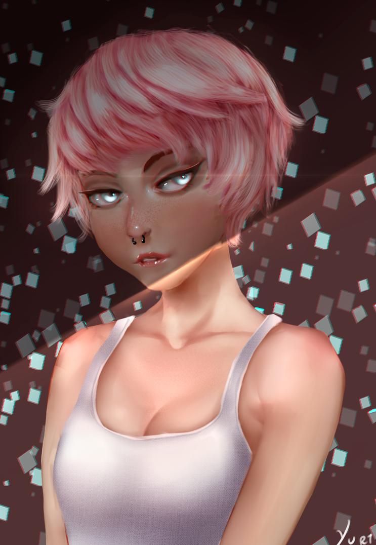 Pink Hair by Yur1Rodrigues