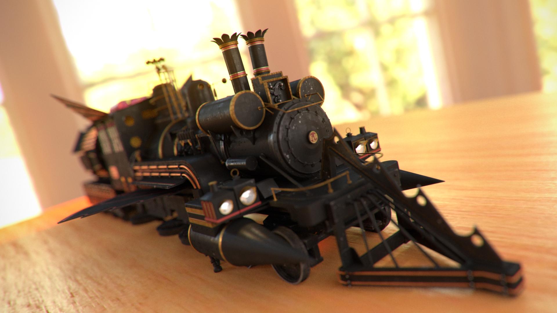Train Jules Vernes render toy by Zlydoc