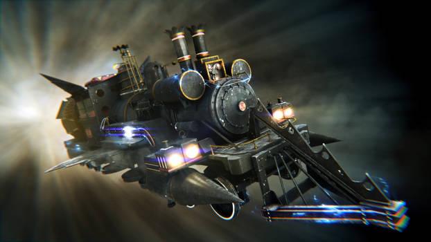 Train Jules Vernes render 3