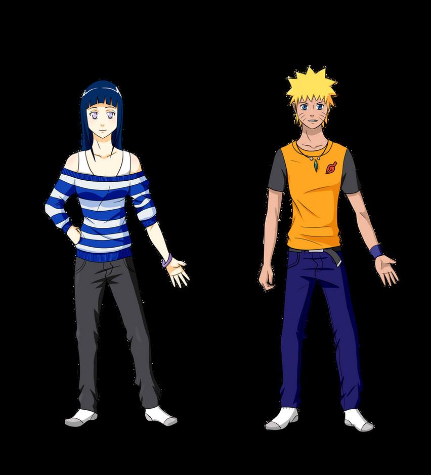 Modern Hinata and Naruto by Silent-Shanin