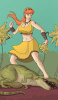 April O'Kon: Queen of the Titans [Commission]