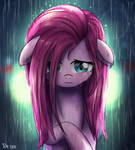 Pink mane crying in the rain
