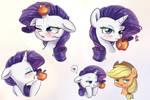 a juicy apple