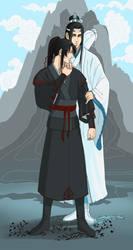 Wei Wuxian and Lan Wangji by Liss-ka