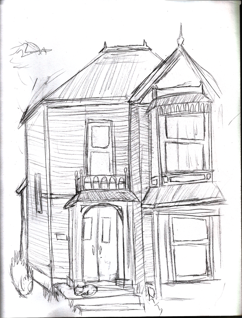 Small House Sketch By 1abiodun On Deviantart