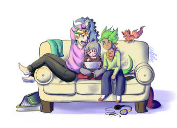 Couch Time by 1Abiodun