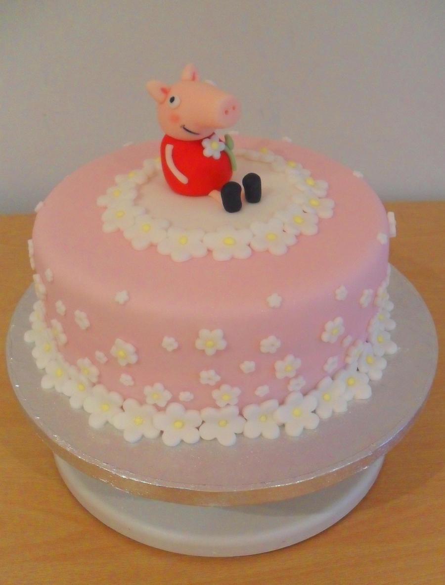 Детский торт своими руками. Торт со свинкой Пеппой 83