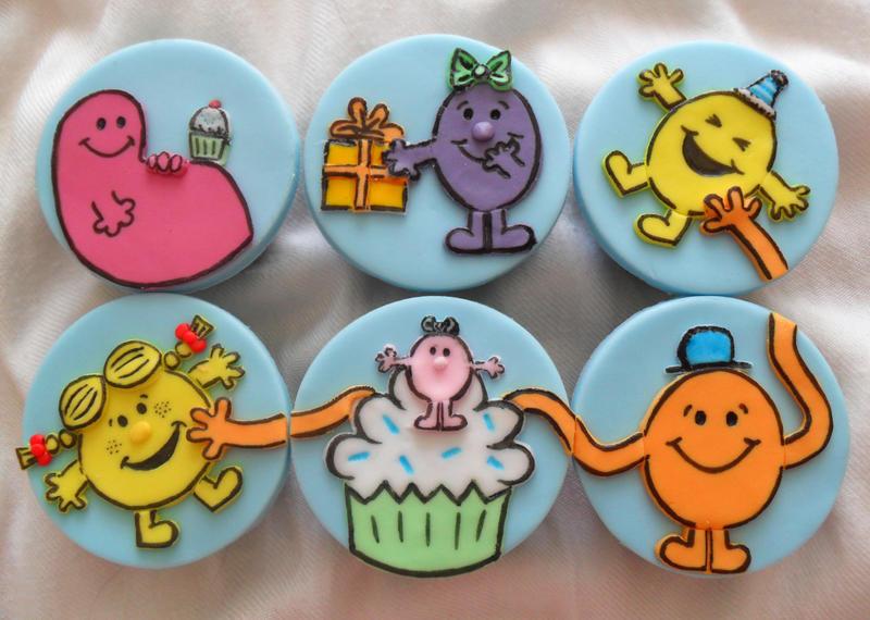Mr Men Cupcakes by RebeccaRoseBrine