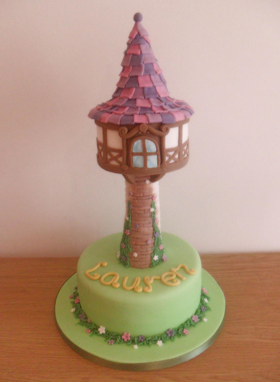 Tangled Tower Cake. by RebeccaRoseBrine