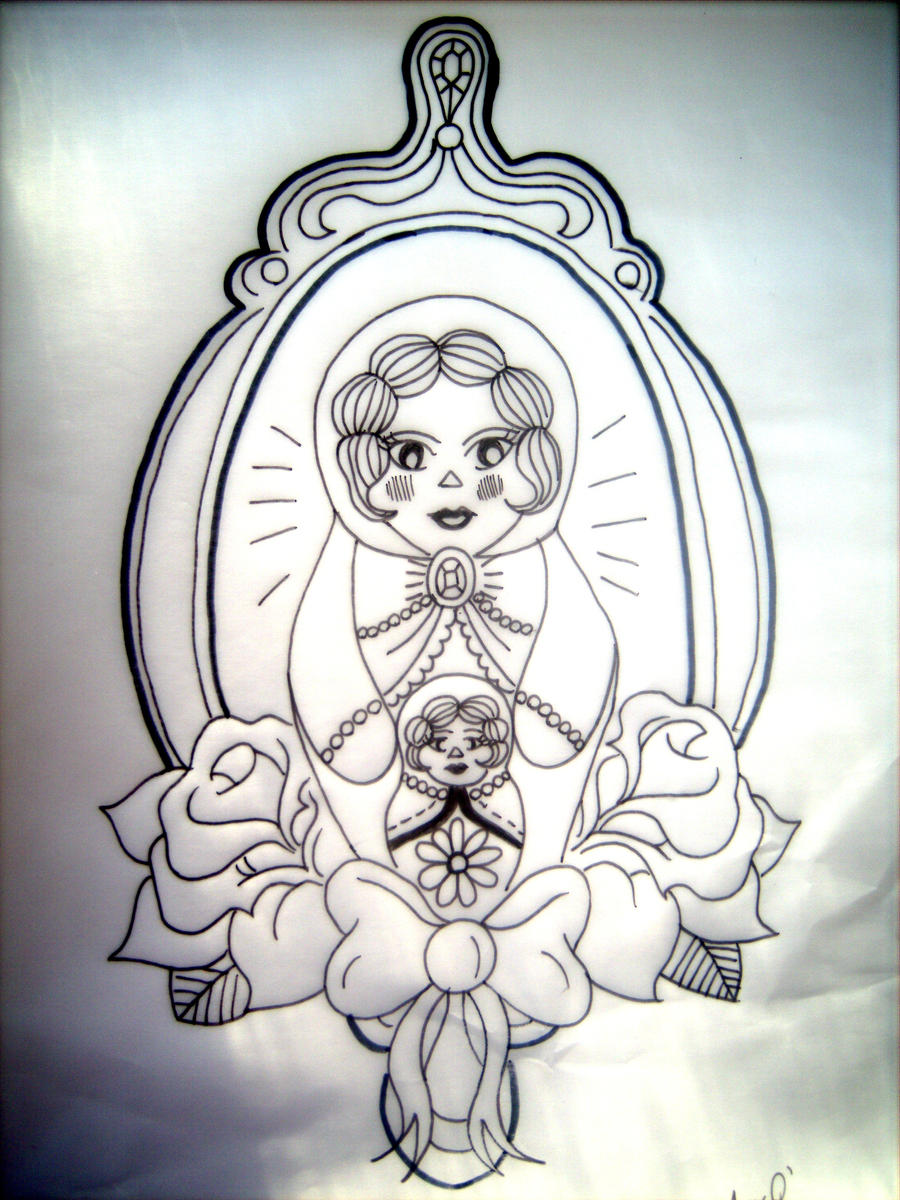 Russian doll tattoo design by amylouisezombie on deviantart for Russian style tattoo