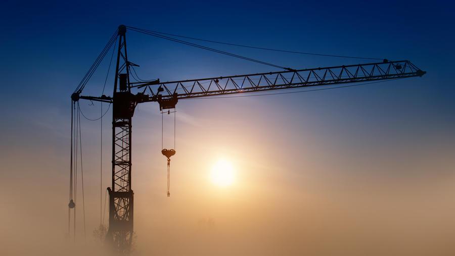 Crane in the mist by Belolis