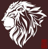 Tribal Lion by psycko-art