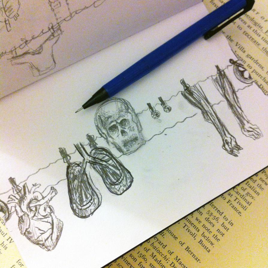 Sketchbook Sundays - On the line by pinkyaliya