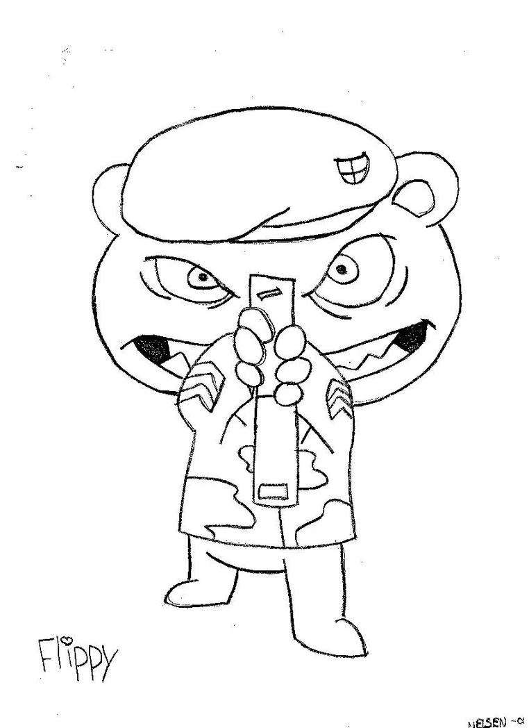 happy tree friends coloring pages - photo#33