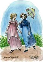 Austen: Jane and Elizabeth by purplerebecca