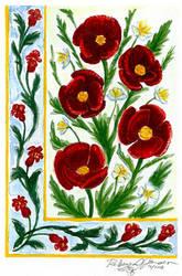 Decor: Poppies by purplerebecca