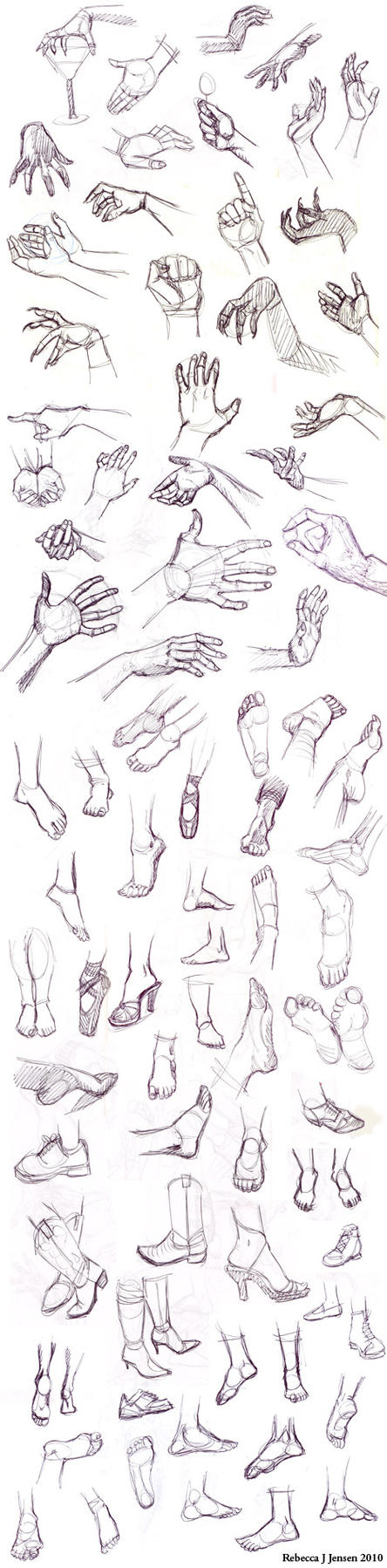 Hands and Feet Sketches by purplerebecca