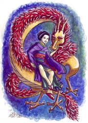 Dragon and Maiden by purplerebecca