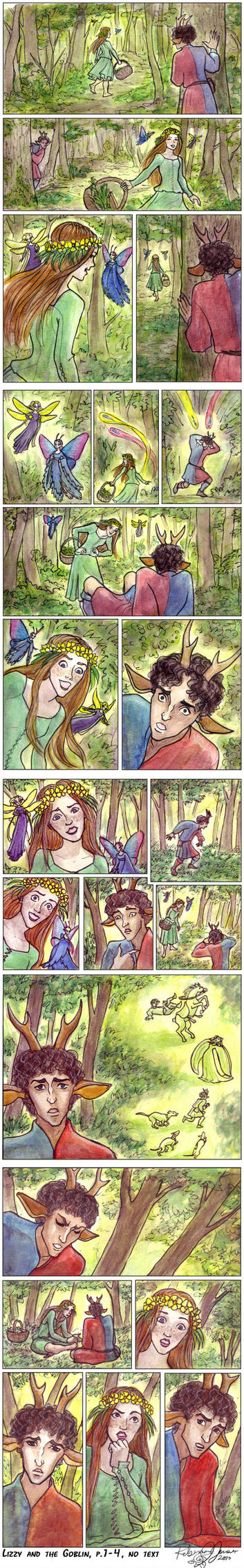 Lizzy and the Goblin, p.1-4