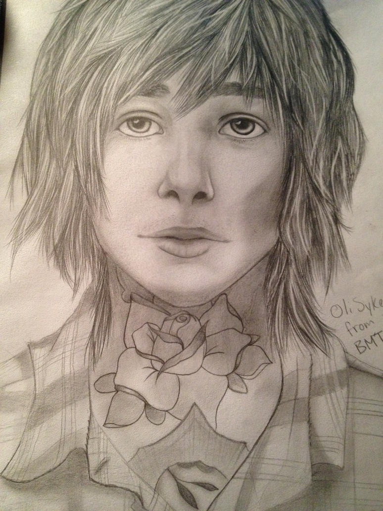 oli sykes from bmth.  by Kcae