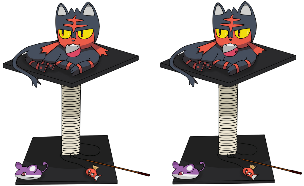 Game : Find the differences, cute Litten playing by TheLittlelight on ...