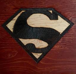 Pyrography 5 - Superman Logo by GodWeenSatan