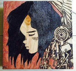 Pyrography 6 - Rusty Angel by GodWeenSatan