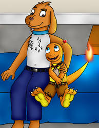 Pyron and DoggyDog by LittleCharmander