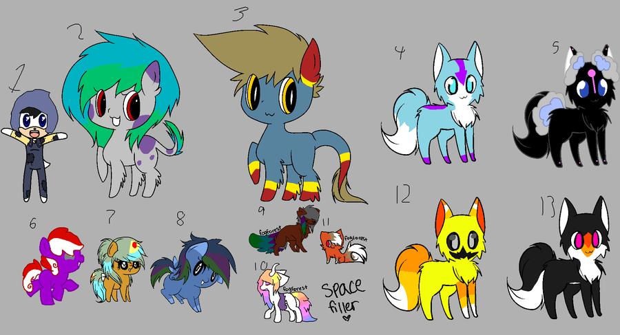 thirteen mixed adopts by MephilesfanforSRB2